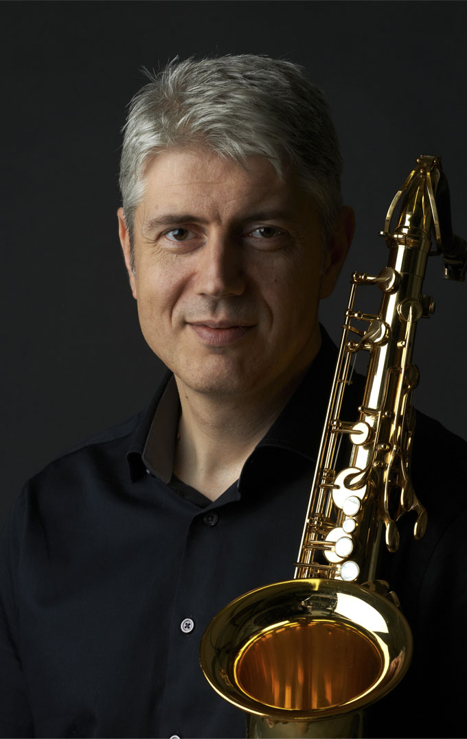 Commercial photography of a musician playing a saxophone