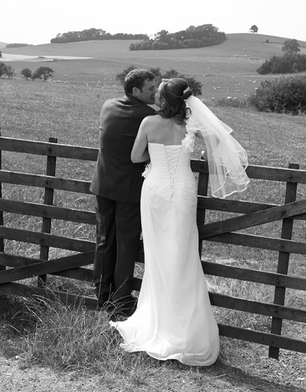 Tudor Photography wedding services bride and bridegroom in classic black and white